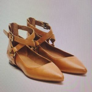 ISO Frye Sienna Harness flat in TAN